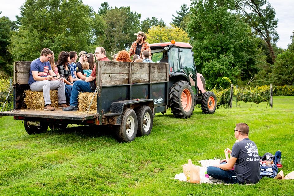 Hayride with the winemakers